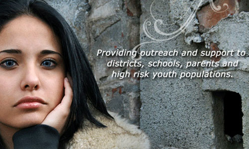 Providing outreach and support to districts, schools, parents and high risk youth populations.